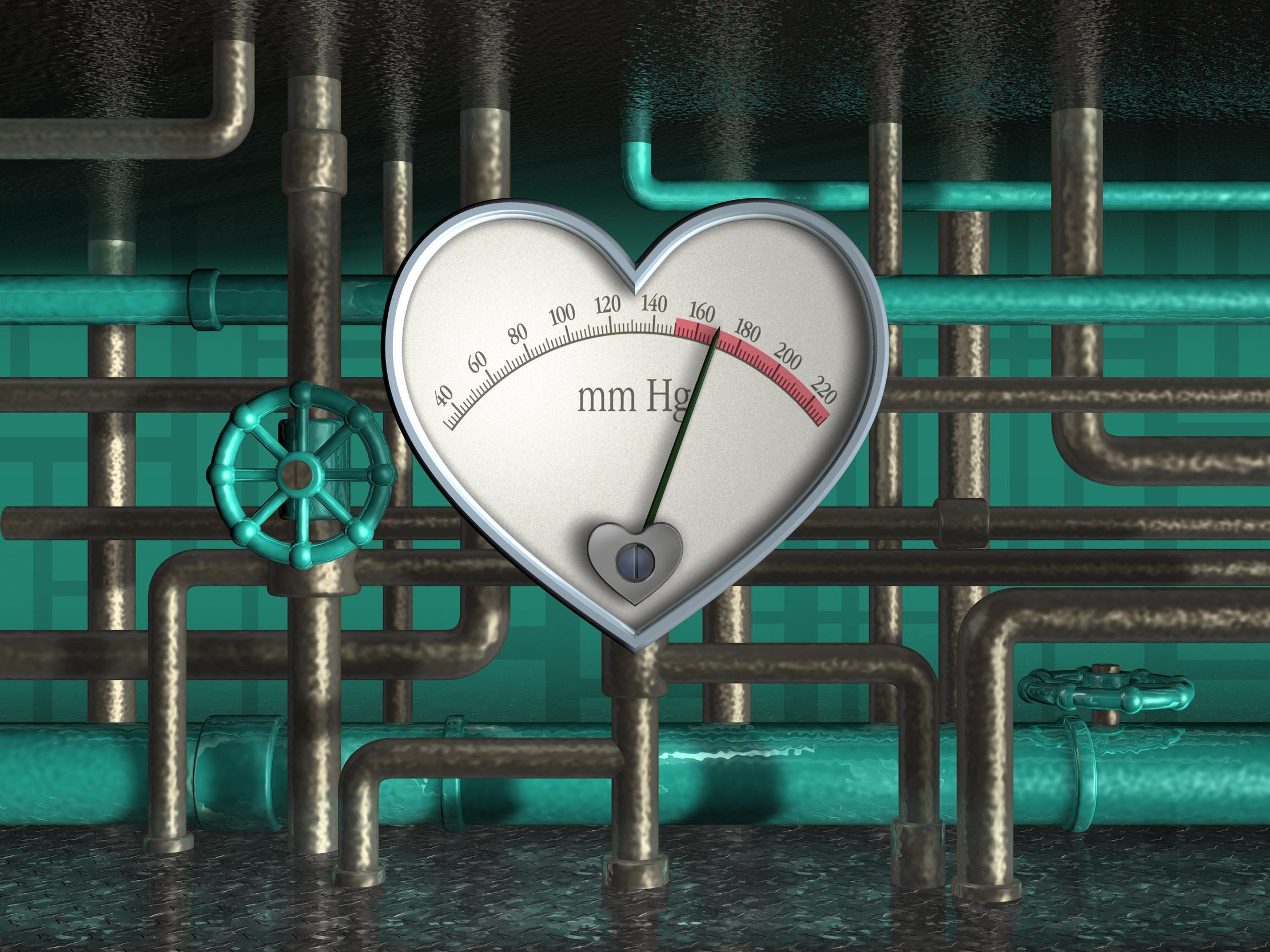 Herzförmiger Druckanzeiger