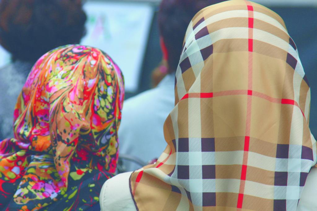 Türkische Frauen mit Kopftüchern