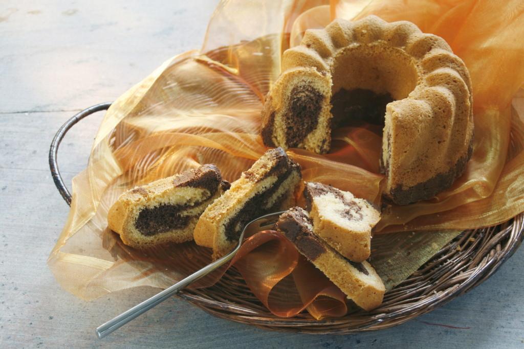 Frisch gebackener Marmorkuchen
