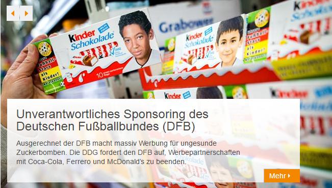 Bild: Fußballer auf Kinderschokolade.